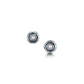 Lunar Pearl Sterling Silver Stud Earrings