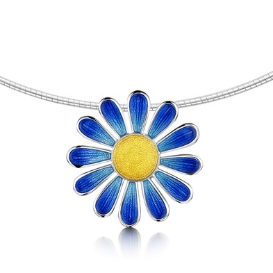 Coloured Daisies Necklet