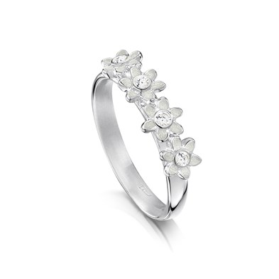 Diamond Daisies Ring