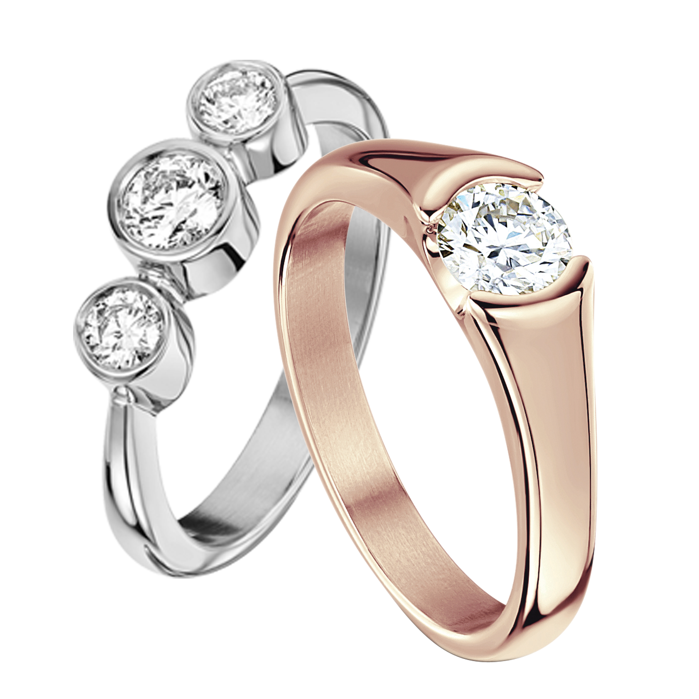 wedding rings groom for and bride luxury