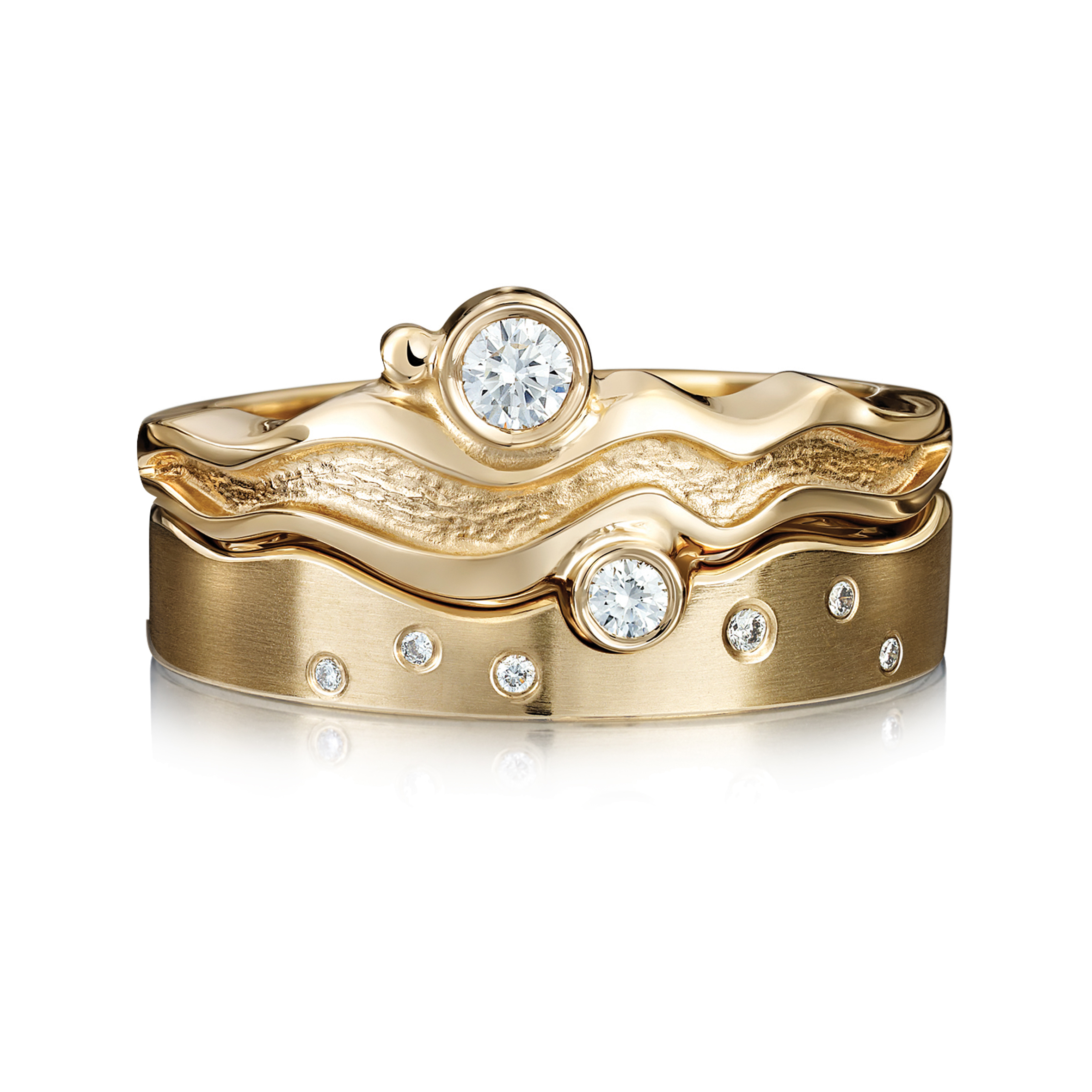 white on topic nature rings gold chain ring e
