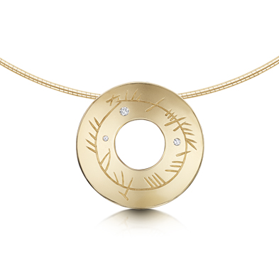Ogham in Gold Necklet