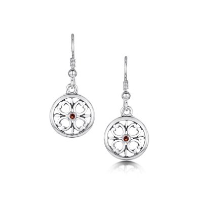 Garnet Cathedral Earrings