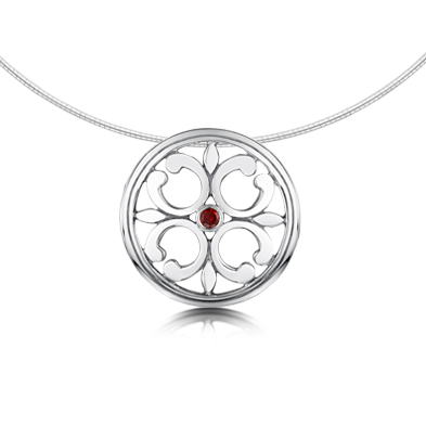 Garnet Cathedral Necklet