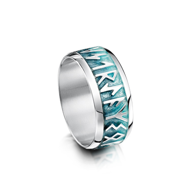 Runic in Enamel Ring