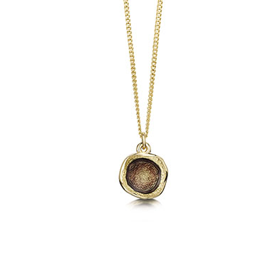 Lunar in Gold Pendant