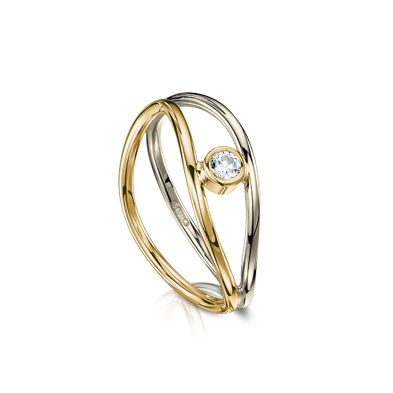 Reef Knot Diamond Ring