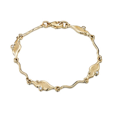 River Ripples in Gold Bracelet