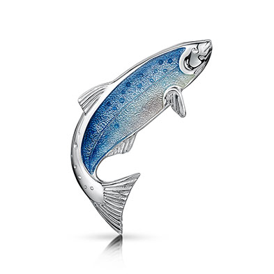 Salmon Brooch