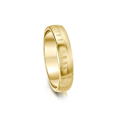 Ogham in Gold Ring