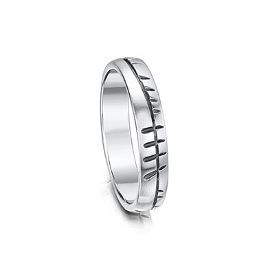 white ogham page wedding rings gold ring