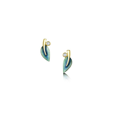Rowan in Gold & Enamel Earrings