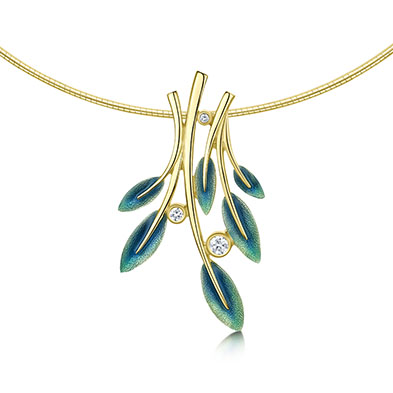 Rowan in Gold & Enamel Necklet