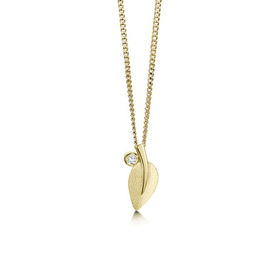 Rowan in Gold Pendant