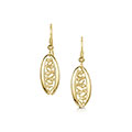 Captivate 9ct Gold Drop Earrings