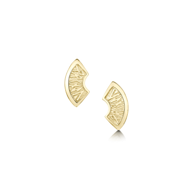 Runic in Gold Earrings