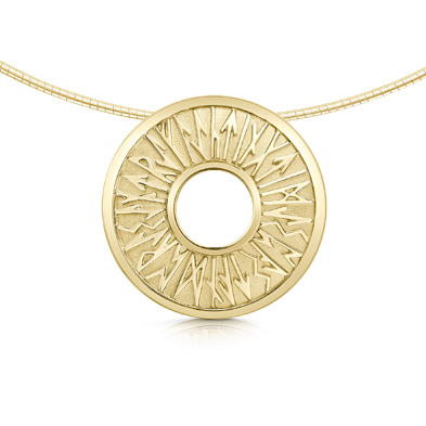 Runic in Gold Necklet