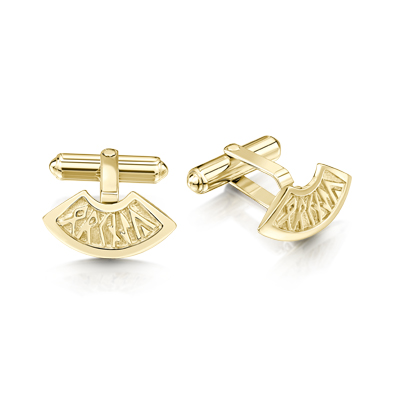 Runic in Gold Cufflink