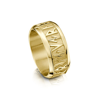 Runic in Gold Ring