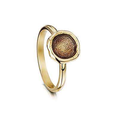 Lunar in Gold Ring