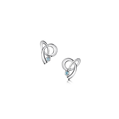 Tidal Blue Topaz Earrings
