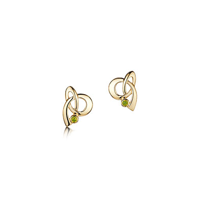 Tidal Gold Stoneset Earrings