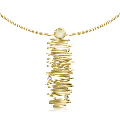 Moonlight in Gold Necklet