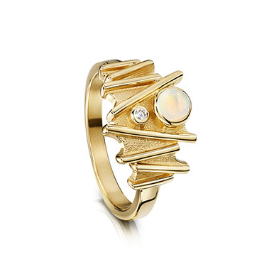 Moonlight in Gold Ring