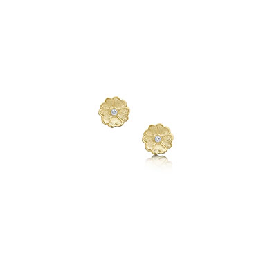 Primula Scotica in Gold Earrings