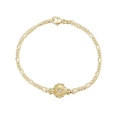 Primula Scotica in Gold Bracelet