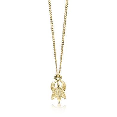 Snowdrop in Gold Pendant
