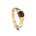 Contemporary Diamonds - Venus Ring with Garnet