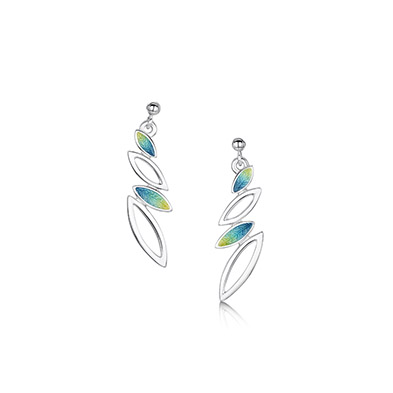 Seasons in Silver & Enamel Earrings