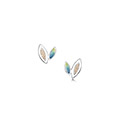 Seasons Gold Leaves Stud Earrings