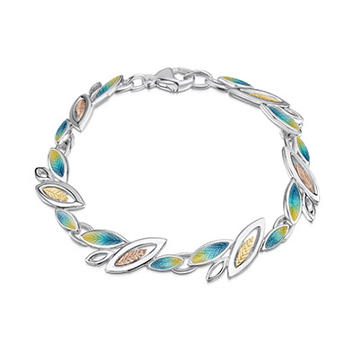 Seasons Gold Leaves Bracelet