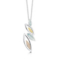 Seasons Gold Leaves Pendant