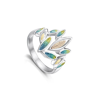 Seasons Gold Leaves Ring
