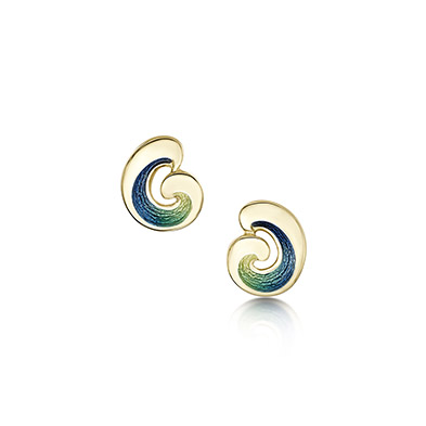 Wave in Gold Earrings
