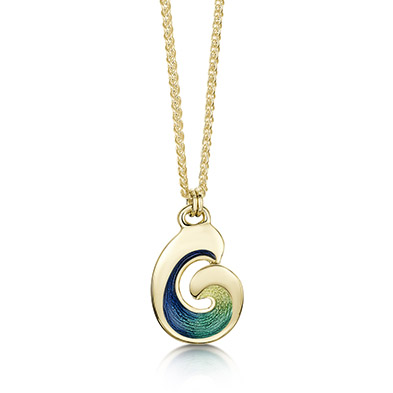 Wave in Gold Pendant