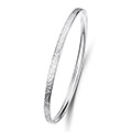 Matrix Silver Bangle