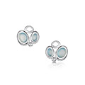 Arctic Stream Small Stud Earrings in Sterling Silver