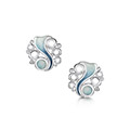 Arctic Stream Stud Earrings in Sterling Silver