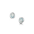 Arctic Stream Petite Stud Earrings in Sterling Silver
