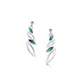 Seasons Silver & Enamel Drop Earrings