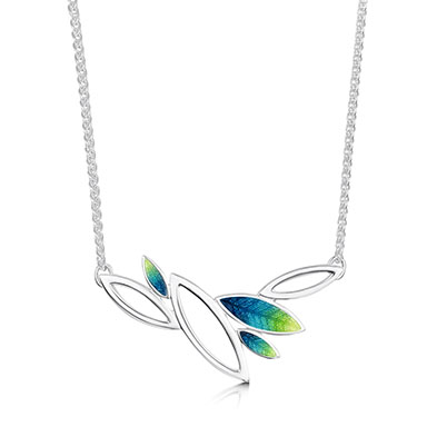 Seasons in Silver & Enamel Necklet