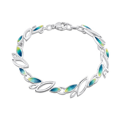 Seasons in Silver & Enamel Bracelet
