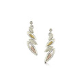 Seasons 9ct White, Yellow & Rose Gold Drop Earrings