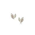 Seasons 9ct White & Rose Gold Earrings
