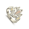 Seasons 9ct White, Yellow & Rose Gold Ring