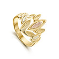Seasons 9ct Yellow, White & Rose Gold Ring